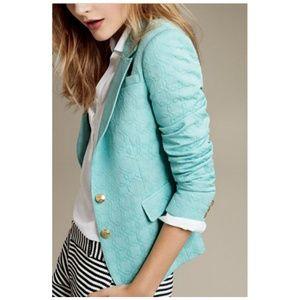 BANANA REPUBLIC Turquoise Textured Blazer Size 4